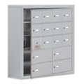 """30.5""""W x 31""""H 15 Door Cell Phone Locker with Key Lock and Access Panel, 36496"""