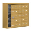 """37""""W x 31""""H 24 Door Cell Phone Locker with Key Lock and Access Panel, 36498"""