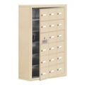"""24""""W x 36.5""""H 17 Door Cell Phone Locker with Key Lock and Access Panel, 36500"""