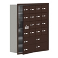 "30.5""W x 36.5""H 19 Door Cell Phone Locker with Key Lock and Access Panel, 36501"