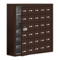 "37""W x 36.5""H 29 Door Cell Phone Locker with Key Lock and Access Panel, 36502"