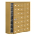 """37""""W x 42""""H 34 Door Cell Phone Locker with Key Lock and Access Panel, 36506"""