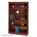 "60""H Five Shelf Square Edge Bookcase, 32119"