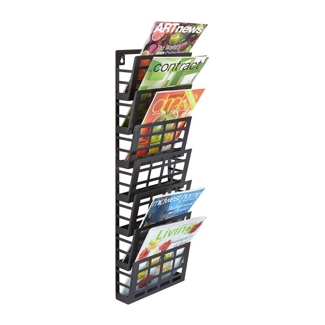 Seven Pocket Grid Literature Display Rack, 36397