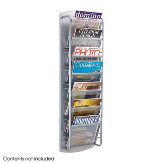 Seven Pocket Steel Literature Display Rack, 36400