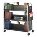 Double-Sided Six Shelf Book Cart, 36511