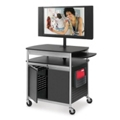 Mobile Multimedia Cart with Locking Cabinet, 43152
