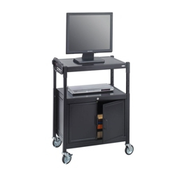 Mobile Adjustable Height AV Cart with Surge Protector, 43225