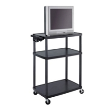 Mobile Adjustable Height AV Cart with Surge Protector, 43226