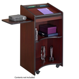 Mobile Lectern with Pull Out Side Shelf, 43297