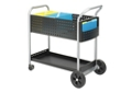 Contemporary Black Steel Legal File Mail Cart, 42095