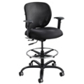 24/7 Big and Tall Mesh Back Ergonomic Stool with Arms, 56010