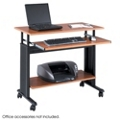 Adjustable Height Computer Workstation with Casters, 60995