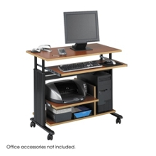 Customized Height Computer Workstation with Casters, 60996