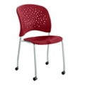 Plastic Guest Chair with Casters, 44668