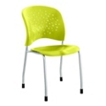Plastic Guest Chair with Glides, 44670