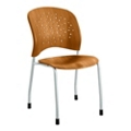 Plastic Wood Guest Chair with Glides, 44671