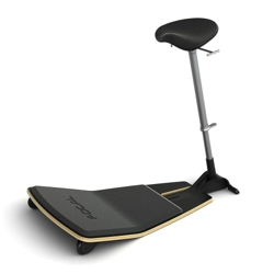 Leaning Stool with Anti-Fatigue Mat and Nubuck Seat by Focal Upright, 50935