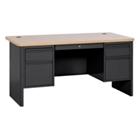 "Steel Double Pedestal Computer Desk - 60""W x 30""D, 11344"
