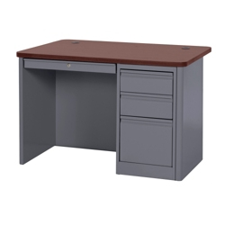 "Steel Single Pedestal Compact Desk - 48""W x 30""D, 11345"