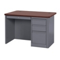 """Steel Single Pedestal Compact Desk - 48""""W x 30""""D, 11345"""