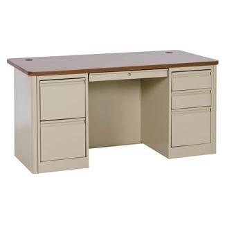 "Steel Double Pedestal Computer Desk - 60""W x 30""D, 11346"