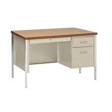 """Lockable Compact Steel Single Pedestal Desk - 45""""W, 13806"""