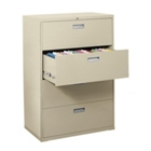 """36""""W 4 Drawer Steel Lateral File, 30080"""