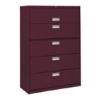 """42""""W 5 Drawer Steel Lateral File, 30084"""