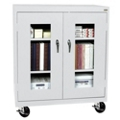 "Mobile Cabinet with ClearView Doors - 46""W x 24""D, 31115"