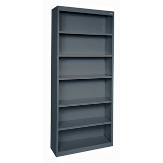 "82""H 6 Shelf Steel Bookcase, 32044"