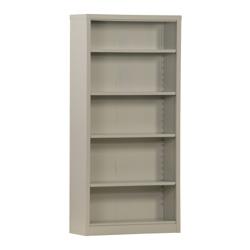 "72""H 5 Shelf Unassembled Steel Bookcase, 32048"