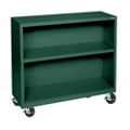 "Mobile Two Shelf Bookcase - 36""H, 32979"