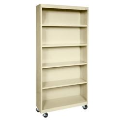 "Mobile Four Shelf Bookcase - 78""H, 32982"