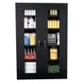 "5 Shelf Steel Storage Cabinet with ClearView Doors - 46""W x 24""D, 36215"