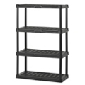 "4 Tier Plastic Shelving Unit - 36""W x 18""D x 56""H, 36236"