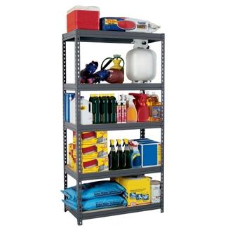 "5 Shelf Steel Shelving Unit - 36""W x 18""D x 72""H, 36239"