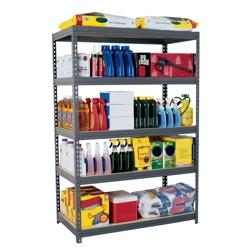 "5 Shelf Steel Shelving Unit - 48""W x 24""D x 72""H, 36240"