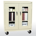 "Mobile Cabinet with ClearView Doors - 46""W x 18""D, 36562"