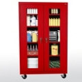 "Five Shelf Mobile Cabinet with ClearView Doors - 46""W x 18""D, 36565"