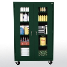 """Five Shelf Mobile Cabinet with ClearView Doors - 46""""W x 24""""D, 36566"""