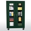 "Five Shelf Mobile Cabinet with ClearView Doors - 46""W x 24""D, 36566"