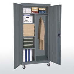 "Mobile Wardrobe and Storage Cabinet - 78""H, 36568"