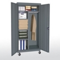 """Mobile Wardrobe and Storage Cabinet - 78""""H, 36568"""
