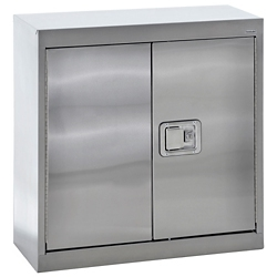 """Stainless Steel Wall Cabinet with Paddle Lock - 30""""W x 12""""D x 30""""H, 36598"""