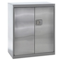"Three Shelf Stainless Steel Cabinet with Paddle Lock - 36""W x 18""D x 42""H, 36599"