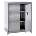 "Raised Stainless Steel Cabinet with Paddle Lock - 36""W x 18""D x 42""H, 36600"