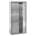 "Five Shelf Stainless Steel Cabinet with Paddle Lock - 36""W x 18""D x 72""H, 36601"