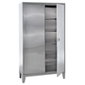 "Raised Stainless Steel Cabinet with Paddle Lock - 48""W x 24""D x 85""H, 36606"