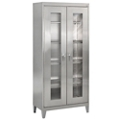 "Raised Clearview Stainless Steel Cabinet - 36""W x 18""D x 79""H, 36608"